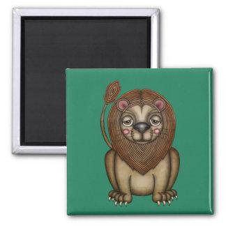Imã Rei bonito do leão dos animais