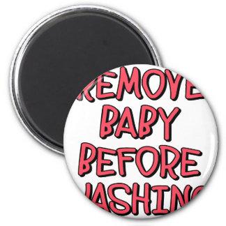 Imã remova o bebê antes de lavar, engraçado