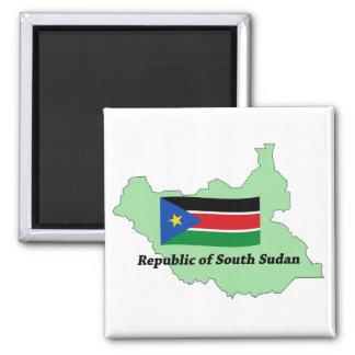 Imã República da bandeira e do mapa do ímã sul de