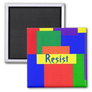 Imã Resista o ímã do design da edredão do arco-íris