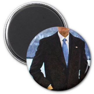 Imã Retrato abstrato do presidente Barack Obama 10