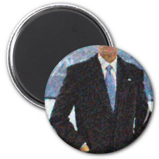 Imã Retrato abstrato do presidente Barack Obama 10a.jp