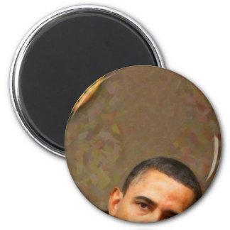 Imã Retrato abstrato do presidente Barack Obama 11