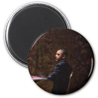 Imã Retrato abstrato do presidente Barack Obama 13