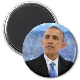 Imã Retrato abstrato do presidente Barack Obama 30x30