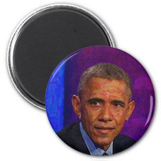 Imã Retrato abstrato do presidente Barack Obama 7