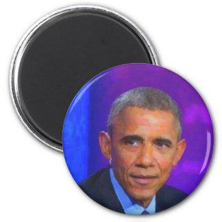 Imã Retrato abstrato do presidente Barack Obama 8 a.jp
