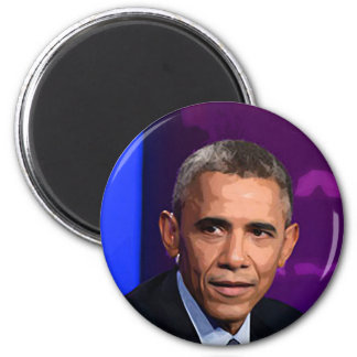 Imã Retrato abstrato do presidente Barack Obama 9