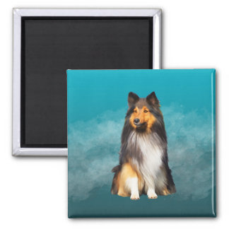 Imã Retrato da arte do Sheepdog de Sheltie Shetland