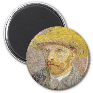 Imã Retrato de auto de Vincent van Gogh com arte do
