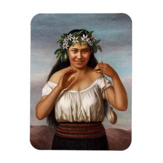"Ímã ""Retrato de Terewai Horomona"" - G. Lindauer"