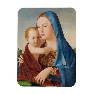 Ímã Retrato Mary e bebê Jesus