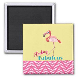 Imã Reunindo a tipografia fabulosa com flamingo