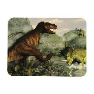 Ímã Rex do tiranossauro que luta contra o