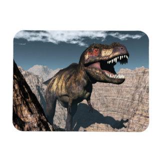 Ímã Rex do tiranossauro que ruje em uma garganta