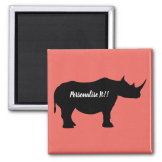 Imã Rinoceronte da silhueta