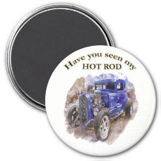 Imã Roadster idoso do vintage azul com o motor para