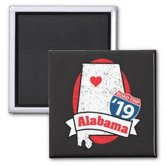 Imã Roadtrip '19 Alabama - ímã quadrado