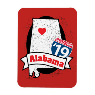 Ímã Roadtrip '19 Alabama - vermelho
