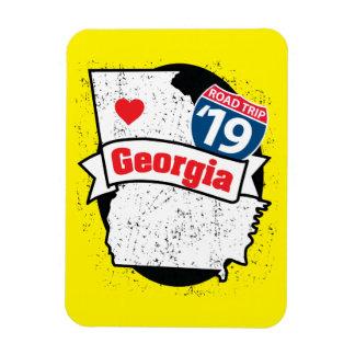Ímã Roadtrip '19 Geórgia - (amarelo/preto) flexmagnet