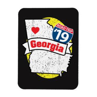 Ímã Roadtrip '19 Geórgia - (preto/amarelo) flexmagnet