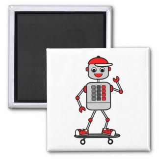 Imã Robô do menino dos desenhos animados no skate