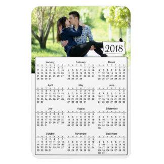 Ímã romântico personalizado 2018 calendários da