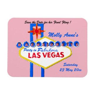 Ímã Rosa da festa de solteira de Las Vegas Nevada