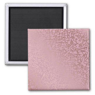 Imã Rosa geométrico do teste padrão do ouro
