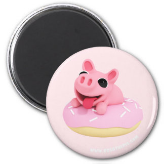 Imã Rosa the Pig in a Donut