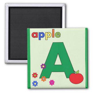 """Imã Rotule """"A"""" é para o ímã de Apple"""
