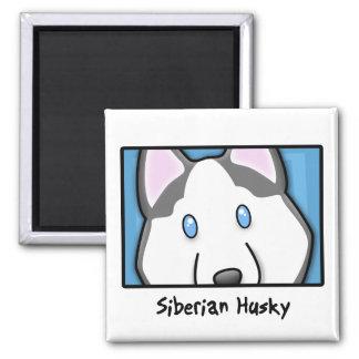 Imã Rouco Siberian quadrado dos desenhos animados