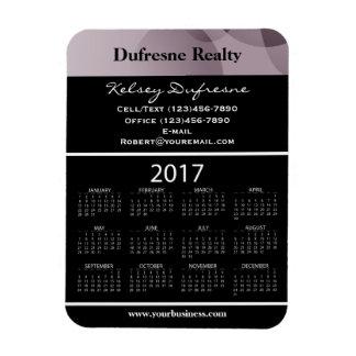 Ímã Roxo do calendário da propaganda de negócio 2017