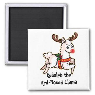 Imã Rudolph o lama com o nariz vermelho
