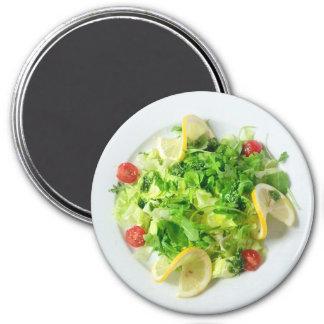 Imã Salada com limões e ímã do refrigerador do tomate