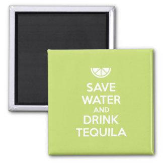 Imã Salvar a água e beba o Tequila