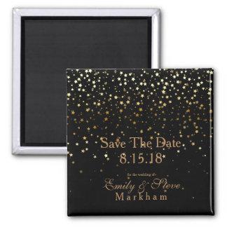 Imã Salvar as pequenos estrelas douradas da data