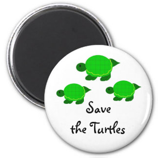 Imã Salvar as tartarugas verdes