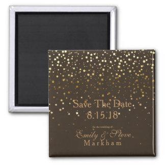 Imã Salvar estrelas Ímã-Brown do ouro da data as