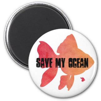Imã Salvar meu ouro-peixe-por do sol do oceano