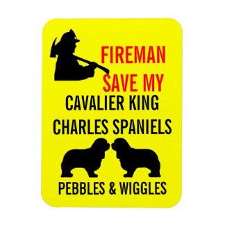 Ímã Salvar meus dois cães descuidados do Spaniel de