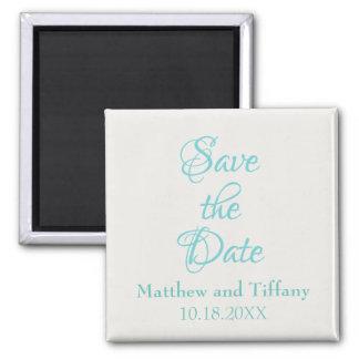 Imã Salvar o casamento azul e de prata da data