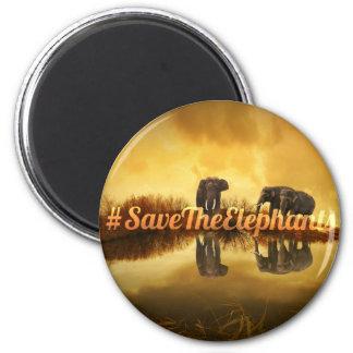Imã Salvar o design dos elefantes