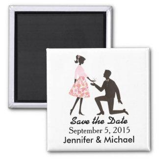 Imã Salvar o ímã do quadrado do casamento da data