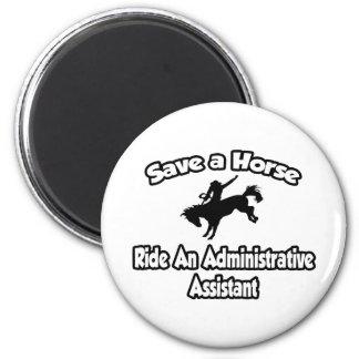 Imã Salvar um cavalo, monte um ajudante administrativo