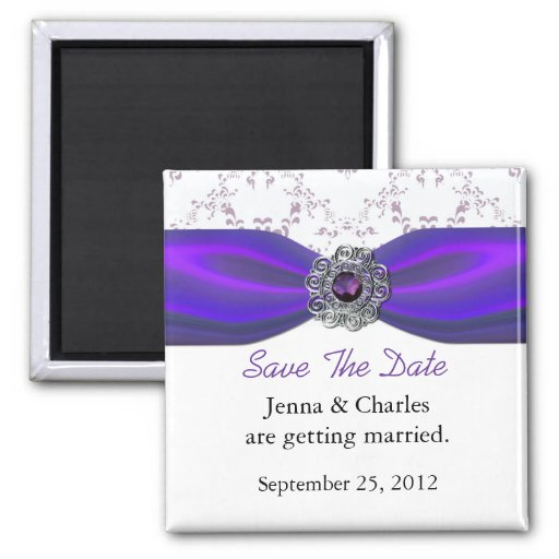 Imã salve a data Amethyst elegante da jóia