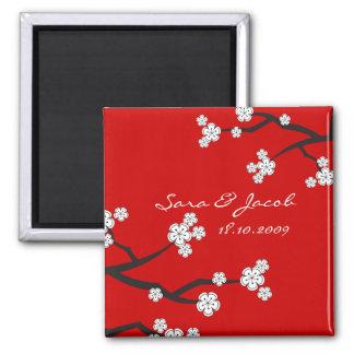 Imã salve a data branca das flores de cerejeira de