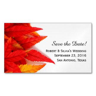 Imã salve a data do outono das folhas do ardor
