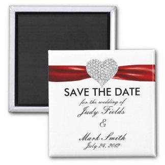 Imã salve a data vermelha do casamento do coração