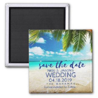 Imã salve o dia do casamento de praia de Bahamas